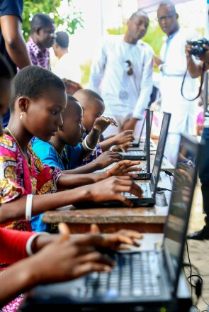 CodeToHope children using computers