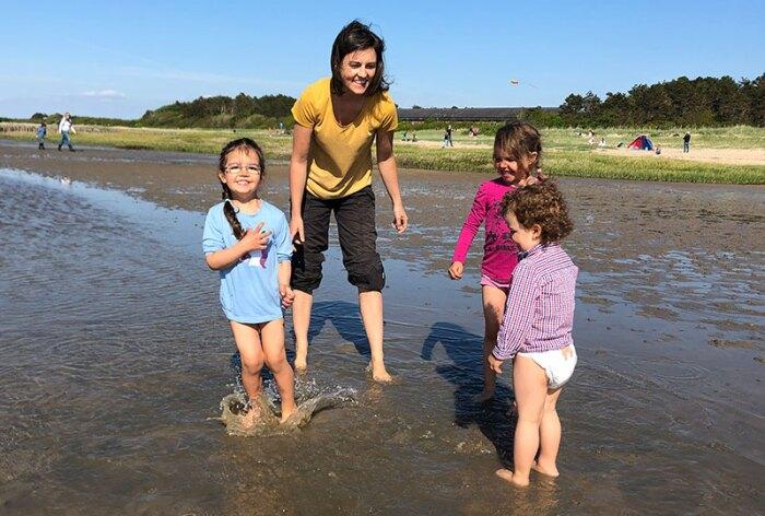 Laura Gador with her three children