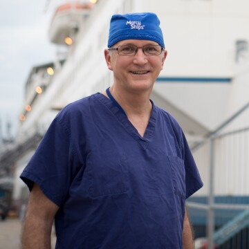 Doctor Gary Parker, the chief medical officer and maxillofacial surgeon on the Africa Mercy
