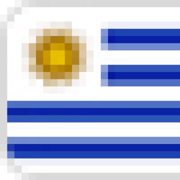 A graphic of the national flag of Uruguay