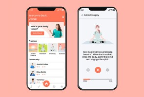 Still shots of the WellNurse app, which helps with nurse burnout relief
