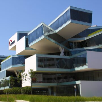 A photo of the Actelion Business Center in Allschwil, Switzerland