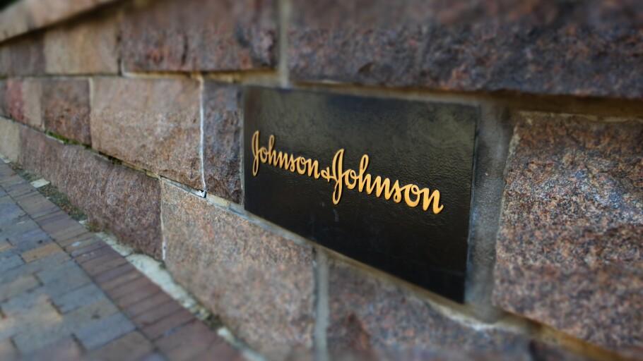 A photo of a Johnson & Johnson signature brick