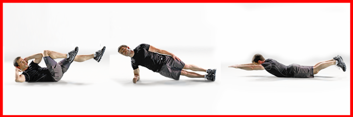 Bicycle Crunches, Side Planks and Supermans from The Johnson & Johnson Official 7 Minute Workout® App