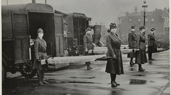 Red Cross Nurses Prepare to Tend to Influenza Victims During WWI, as Hannan Would Have