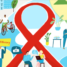 An infographic for HIV/AIDS
