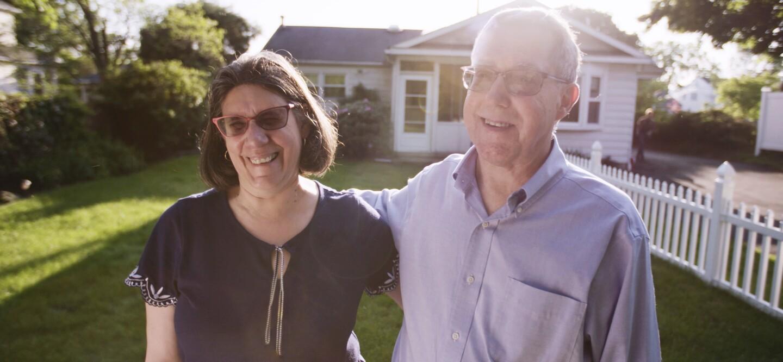 Brain aneurysm survivor Cheryl Dehaut with her husband Joe