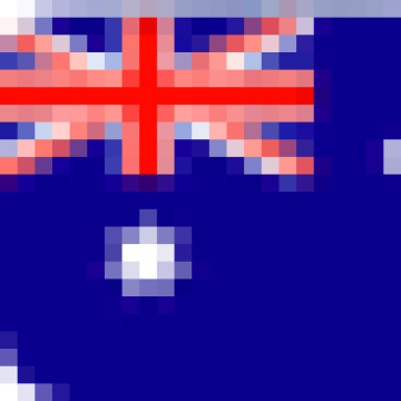A graphic of the flag of Australia