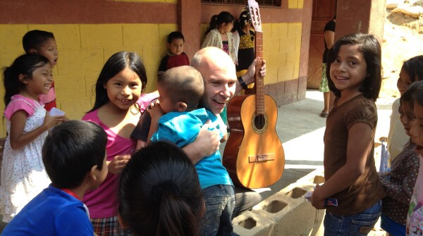 Reinhard Juraschek on one of his trips to Guatemala