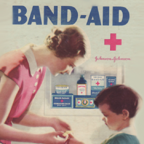 Ad for Johnson & Johnson bandages