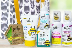 A selection of Zarbee's Naturals® products