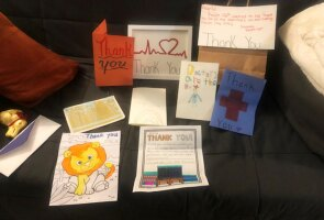 Thank you notes that Dr. Kuffner received