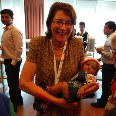 Colleen Hancock Visited Families That Benefited From mMitra on a Recent Trip to India