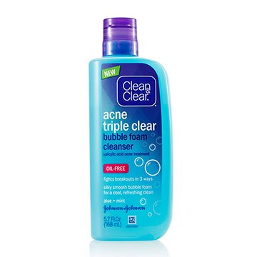 Clean & Clear® Acne Triple Clear™ Bubble Foam Cleanser