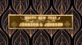 A 1915 Johnson & Johnson Happy Near Year sign.