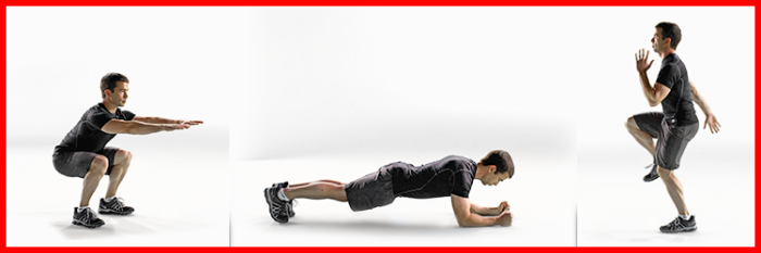 Squats, Planks and High Knees from The Johnson & Johnson Official 7 Minute Workout® App
