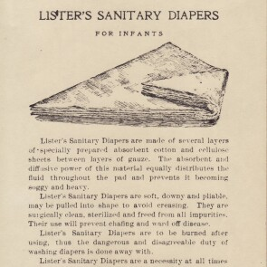 Johnson & Johnson's Lister's Sanitary Diapers, the World's First Disposable Diapers