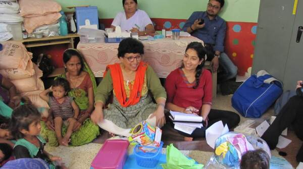 GenH finalist Karima Ladhani (right) workshops her Barakat Bundle In India
