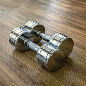 A photo of barbells