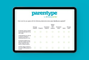 Screenshot of a digital quiz designed to help measure parental well-being