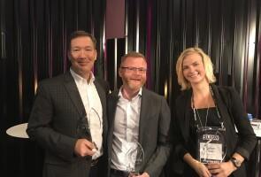 Left to right: Next-Gen Baby Box QuickFire Challenge winners John Konsin, David Howarth and Barbara Haage