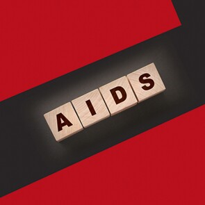 """The word """"AIDS"""" spelled using tiles"""