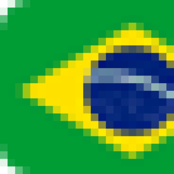 A graphic of the flag of Brazil