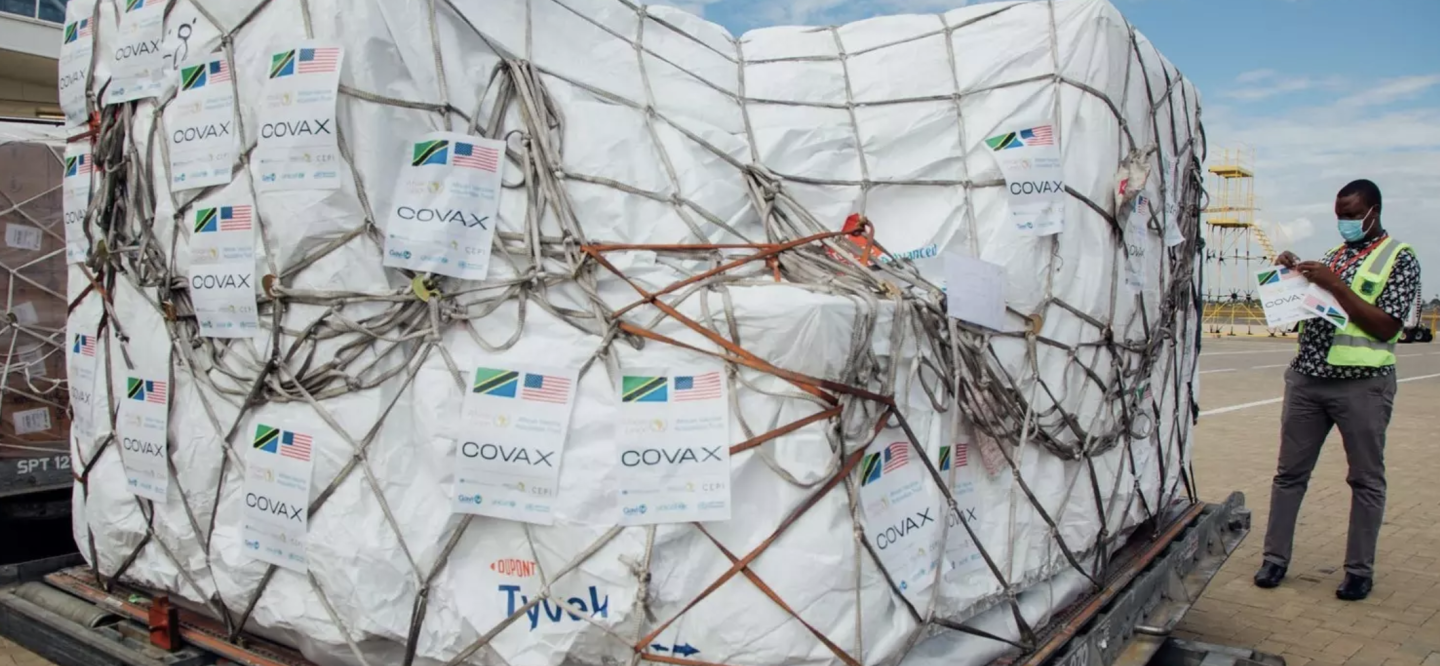Vaccines are delivered to Tanzania as part of the COVAX programme.
