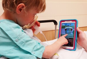 A prototype of Abby Winterberg Hess' anxiety-relieving app for kids before anesthesia