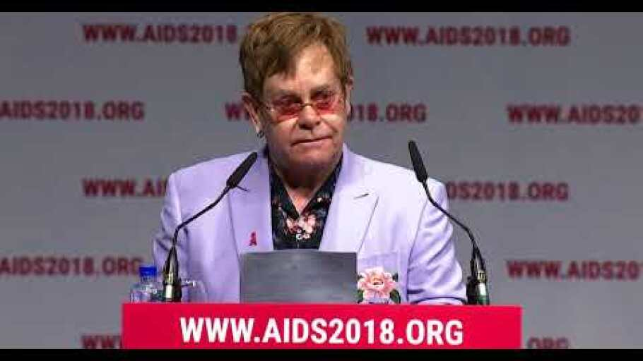 Prince Harry, Elton John and Ndaba Mandela introduce MenStar at the International AIDS Conference