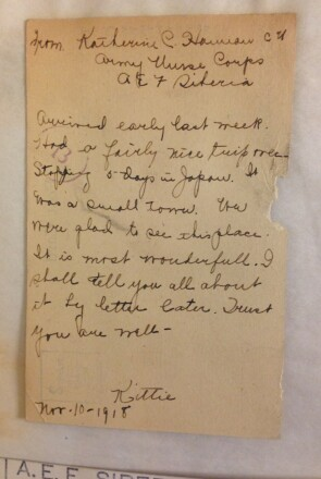 A Postcard Katherine Hannan Sent to Her Colleagues at Johnson & Johnson While Stationed in Siberia