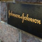 A photo of a Johnson & Johnson signature brick