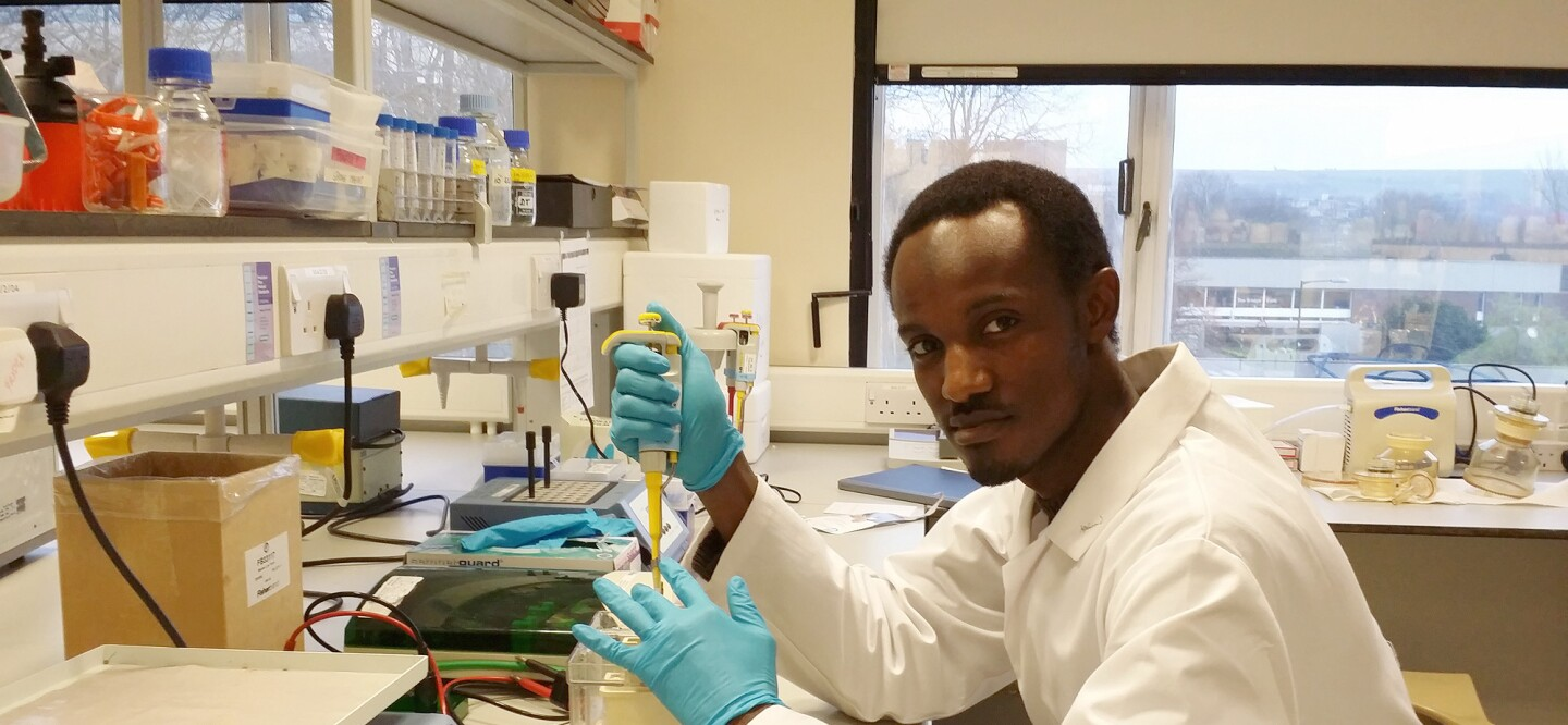 Mahmoud Bukar Maina, winner of the Young African Scientists in Europe (YASE) Edition of the Champions of Science Storytelling Challenge