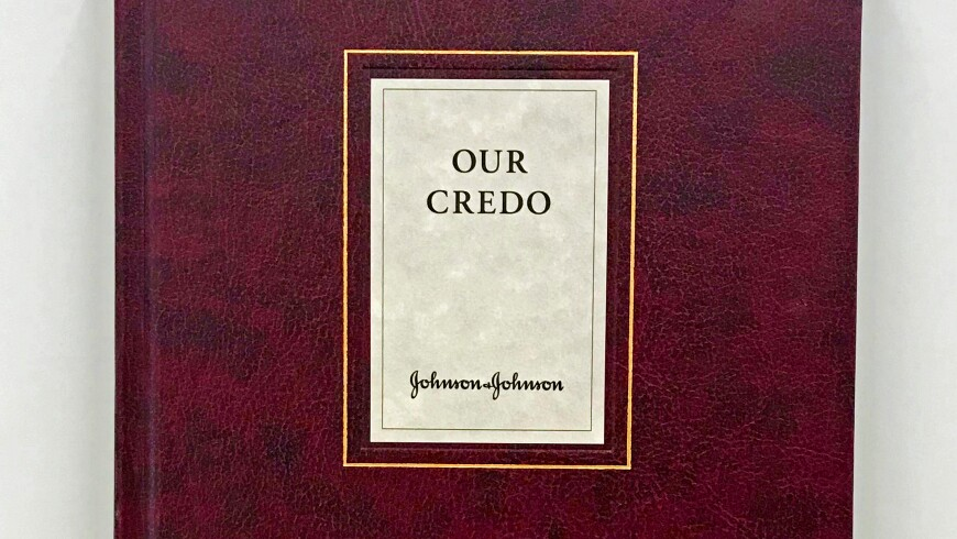 "The ""Our Credo"" Book, Which is a Collection of 65 Copies of the Credo From Various Countries"