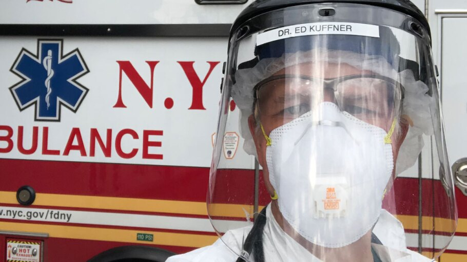 Dr. Ed Kuffner wearing PPE