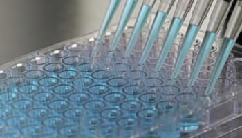 A photo of test tubes and pipettes