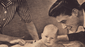 Vintage Johnson's? Baby Lotion Advertisement from 1944