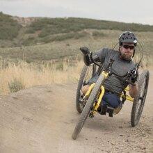 Flip Klein mountain biking in Utah
