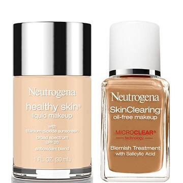 Neutrogena® Healthy Skin® Liquid Makeup Broad Spectrum SPF 20 and Neutrogena SkinClearing® Liquid Makeup