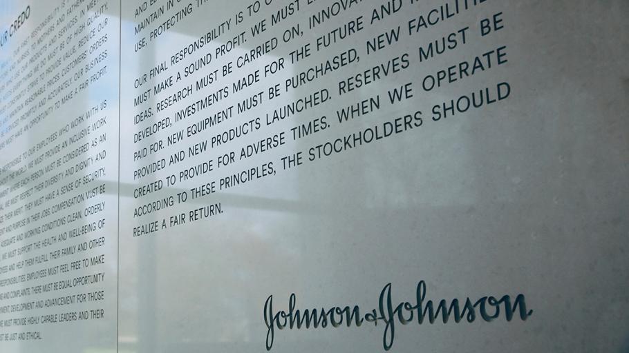 Johnson and Johnson Credo Wall