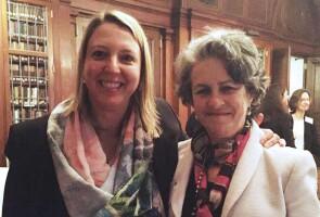 Kate Masschelein with Dr. Anne C. Mosenthal