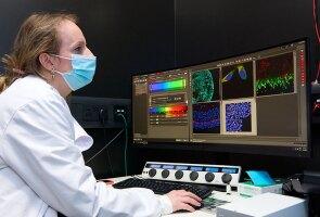 A Janssen scientist at work on investigational gene therapy