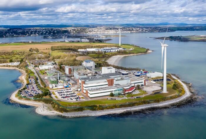 Johnson & Johnson wind turbines in Cork, Ireland