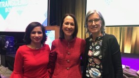 #ChampionsofScience #WomeninScience Seema Kumar, Vice President, Innovation, Global Health & Policy Communication, Johnson & Johnson,  AAAS President Margaret Hamburg and UNESCO Assistant Director Flavia Schlegel, standing together at this year's American Association for the Advance of Science Annual Meeting