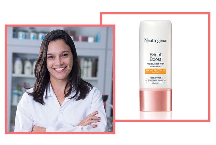 Anna Trondoli, Senior Scientist, Skin Health, Johnson & Johnson do Brasil Industria E Comercio de Produtos Para Saude Ltda. with Bright Boost Moisturizer with Broad Spectrum SPF 30.