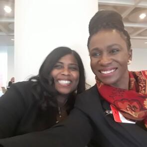 Mentor Nikkia Miller-Blakes, Vice President, Johnson & Johnson Technology with Mentee Lerato Motsamai
