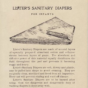Lister's Sanitary Diapers