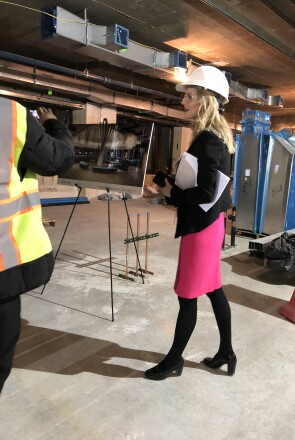 Kate Merton, Head of JLABS @ NYC, Touring the Construction of the New Site