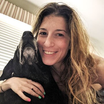 Marisa Troy with her dog