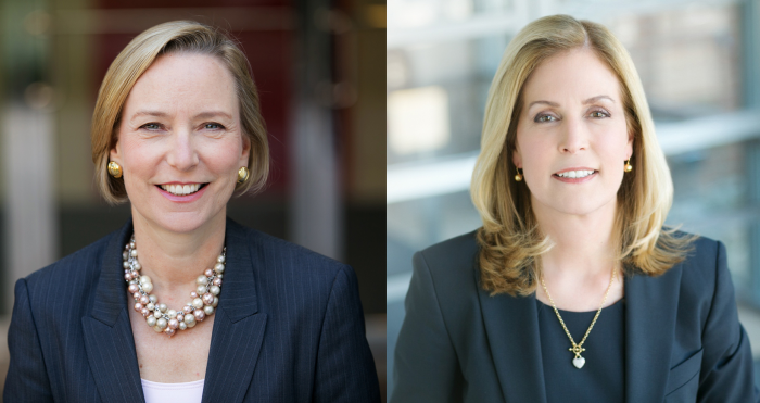 Johnson & Johnson's Sandi Peterson (left) and Jennifer Taubert from Fortune's 2017 Most Powerful Women List